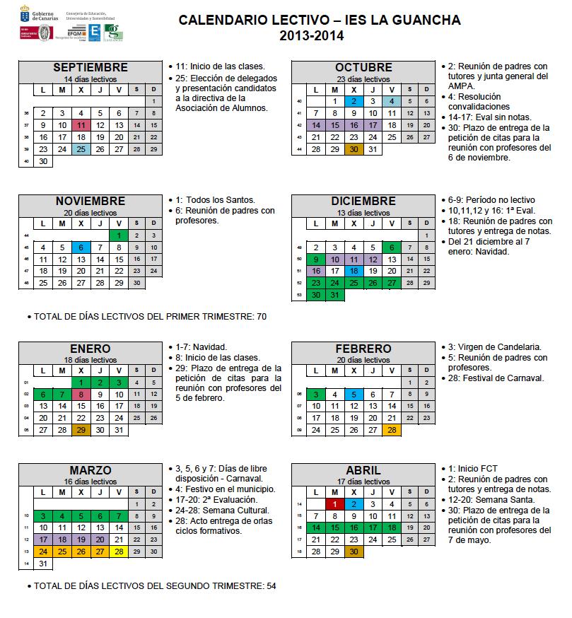 calendario 2013-14